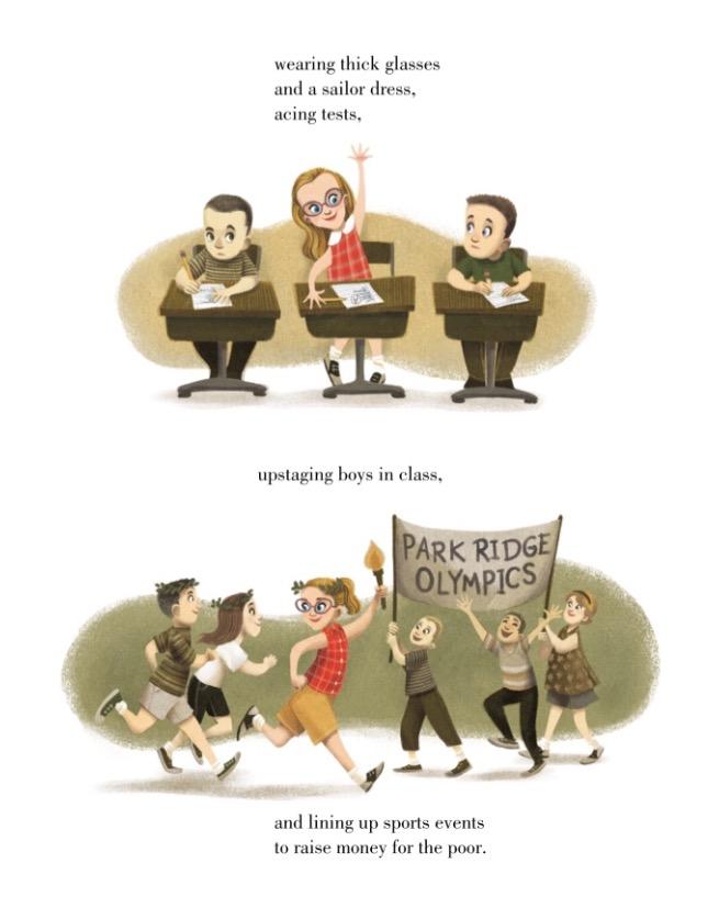 """Ilustração de """"Hillary Rodham Clinton"""": mais esperta que os garotos na escola. (Foto: Reproducão)"""