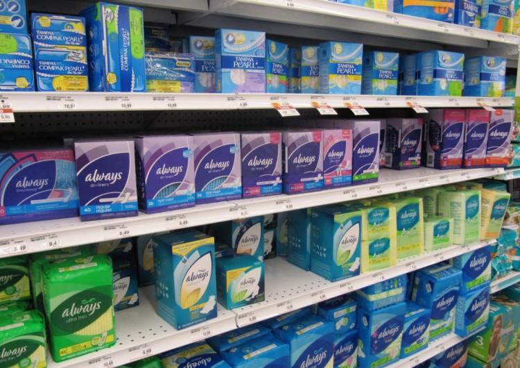 A ala de absorventes femininos em farmácia de Nova York (Foto: Divulgação)
