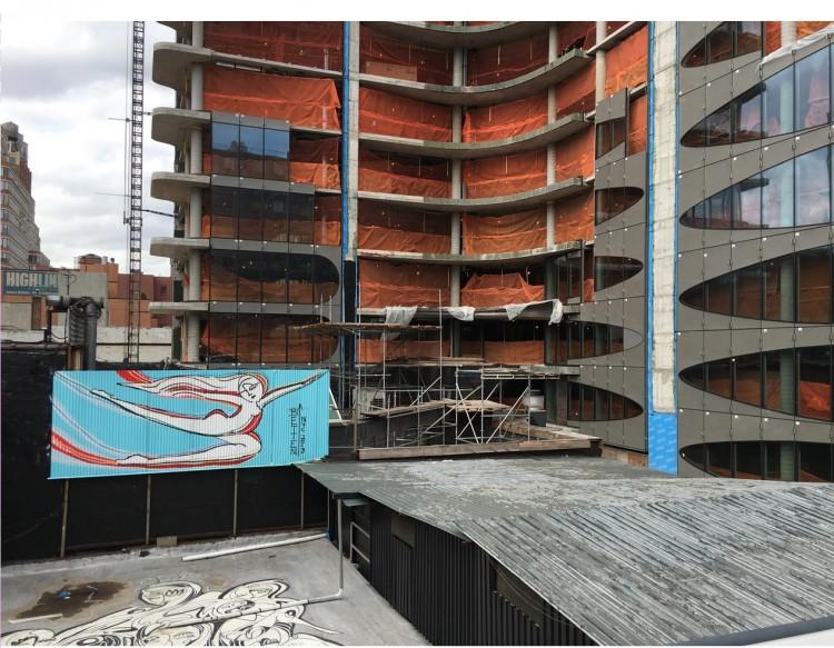 Vista do prédio de Zaha Hadid, a partir do parque elevado High Line. (Foto: Marcelo Bernardes)