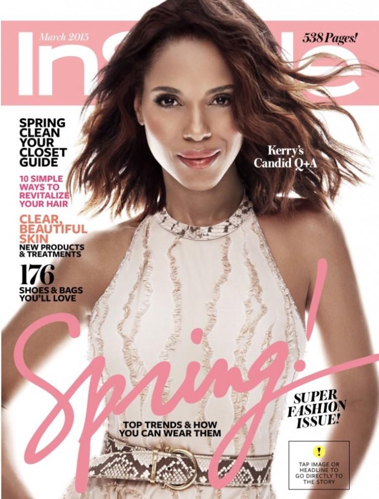 Pele mais clara na revista In Style, de maio de 2015. Editores culpam a iluminação do estúdio. (Foto: Reprodução)