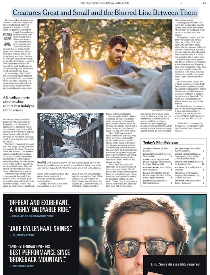 """""""Boi Neon"""" ganha crítica entusiasmada do New York Times. (Foto: Reprodução)"""