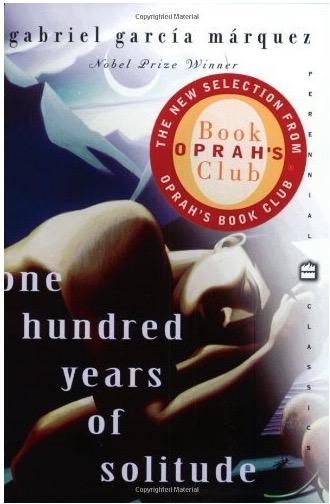 """O livro """"Cem Anos de Solidão"""", de Gabriel Garcia Marquez, com o selo do BookClub de Oprah Winfrey. (Foto: Reprodução)"""