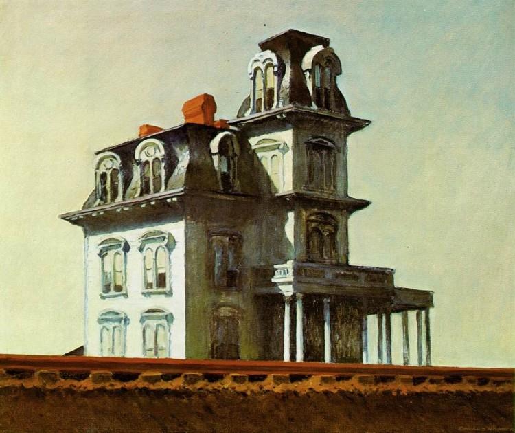 """Tela """"Casa à Beira da Ferrovia"""" (1925), de Edward Hopper, inspirou Hitckcock e Cornelia Foster. (Foto: Reprodução)"""