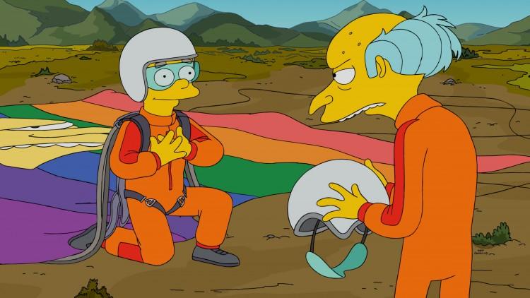 Smithers tentando se declarar para o chefe. (Foto: FOX)