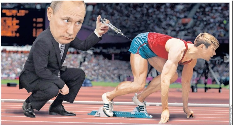 O presidente russo Vladimir Putin na foto montagem do jornal The New York Post. (Foto: Reprodução)