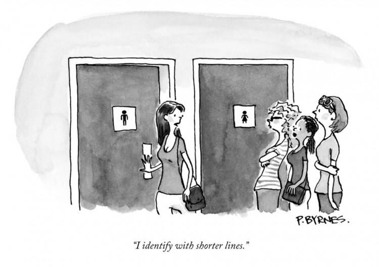 """""""Eu me identifico mais com as filas curtas"""". Charge de P. Byrnes para a revista The New Yorker. (Foto: Reprodução)"""