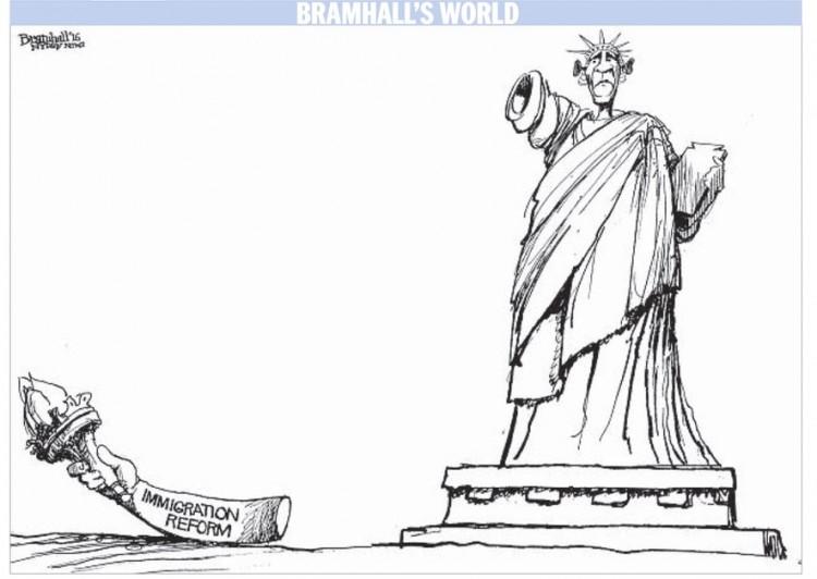 Charge de Bramhall para o jornal Daily News. (Foto: Reprodução)