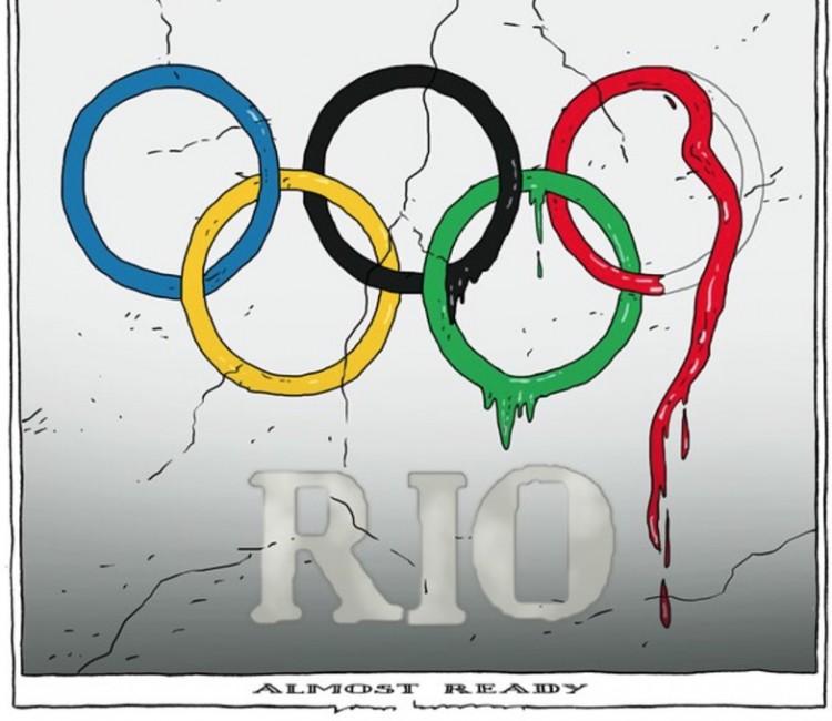 """Rio-2016 """"quase pronta"""" em charge de Joep Bertrams para jornal holandês. (Foto: Reprodução)"""