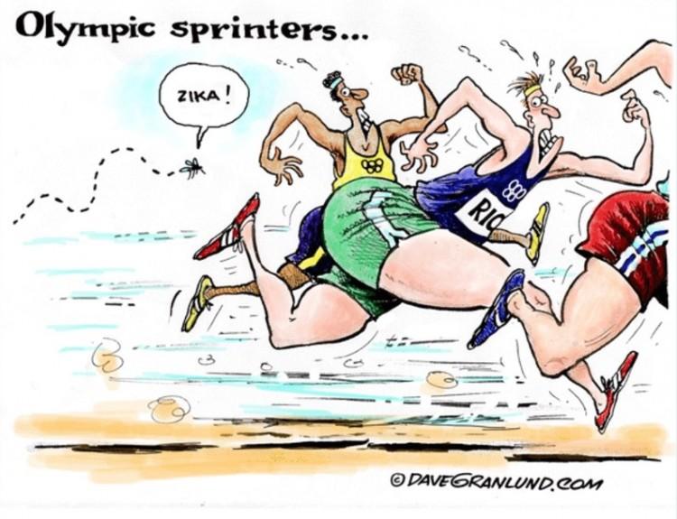 """""""Velocistas olímpicos"""". Charge de Dave Granlund. (Foto: Reprodução)"""