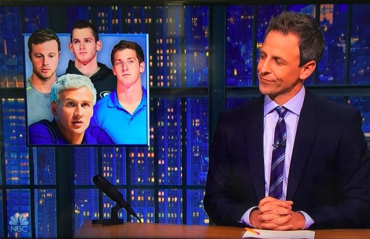 O apresentador Seth Meyers:  (Foto: Reproducão)