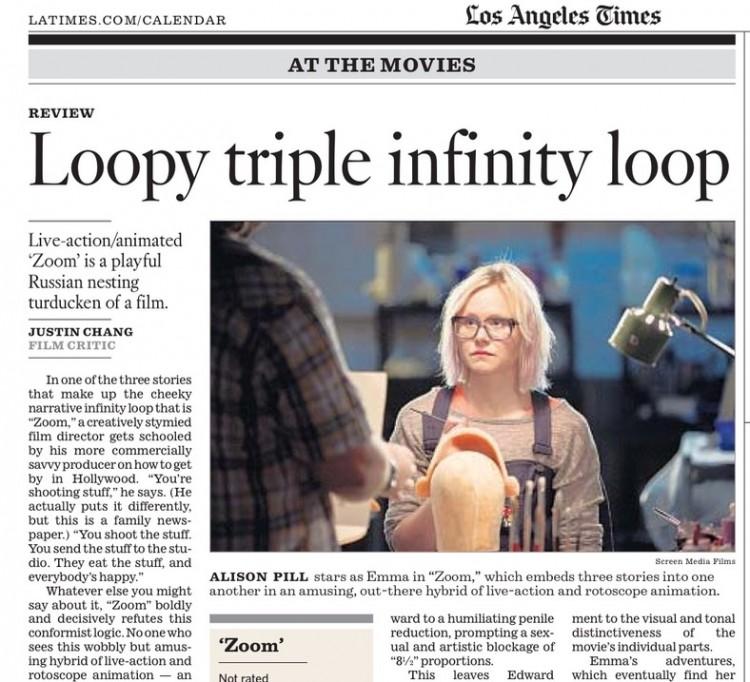 Trecho da crítica de hoje (2) do Los Angeles Times. (Foto: Reprodução)
