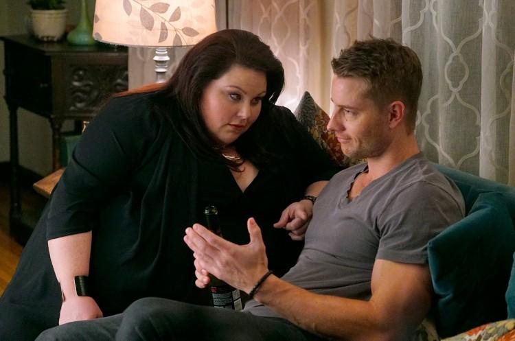 Cindy diz ao irmão Kevin (Hartley) que vai fazer um regime. (Foto: Ron Batzdorff/NBC)