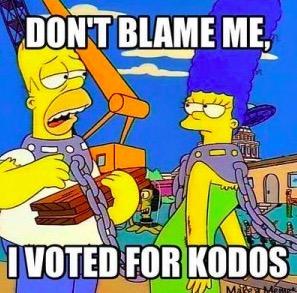"""""""Não me culpe, eu votei para a Kodos"""", virou gíria e hoje é usada em memes. (Foto: Reprodução)"""