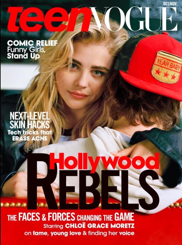 Chloë Grace Moritz, 19, na capa da Teen Vogue de outubro. (Foto: Reprodução)