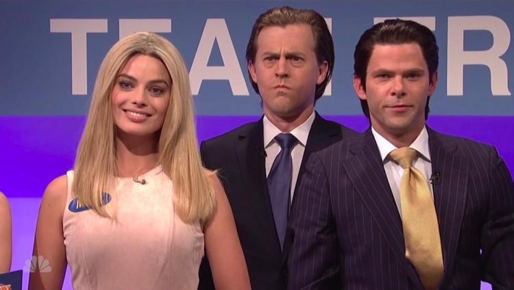 """Ivanka Trump (a atriz Margot Robbie) e os irmãos são comparados aos personagens do livro """"Colheita Maldita"""". (Foto: Reprodução)"""