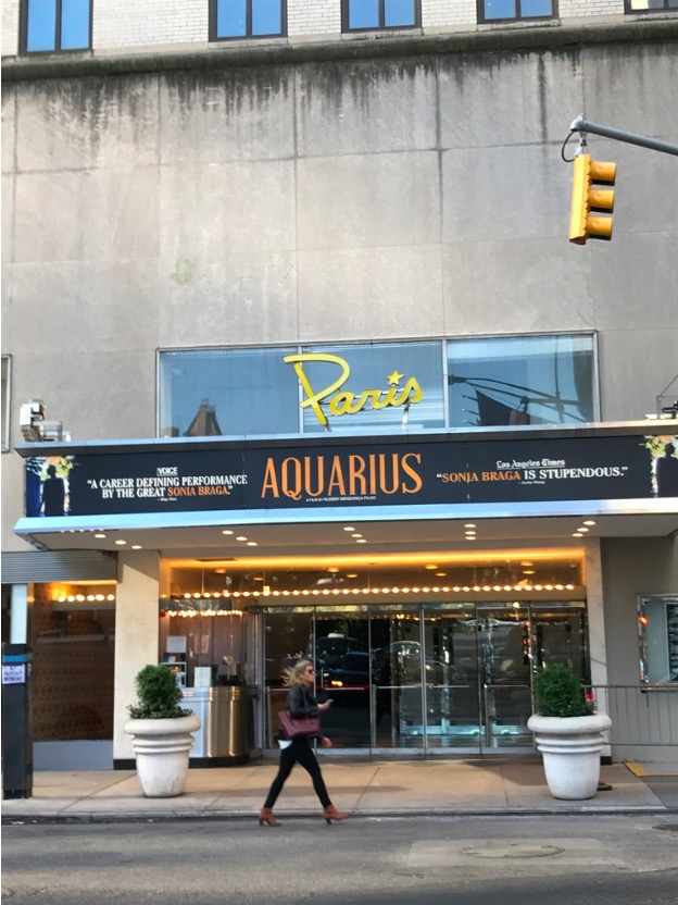 """Aquarius"" estreia no Paris Theater, en Nova York. (Foto: Marcelo Bernardes)"