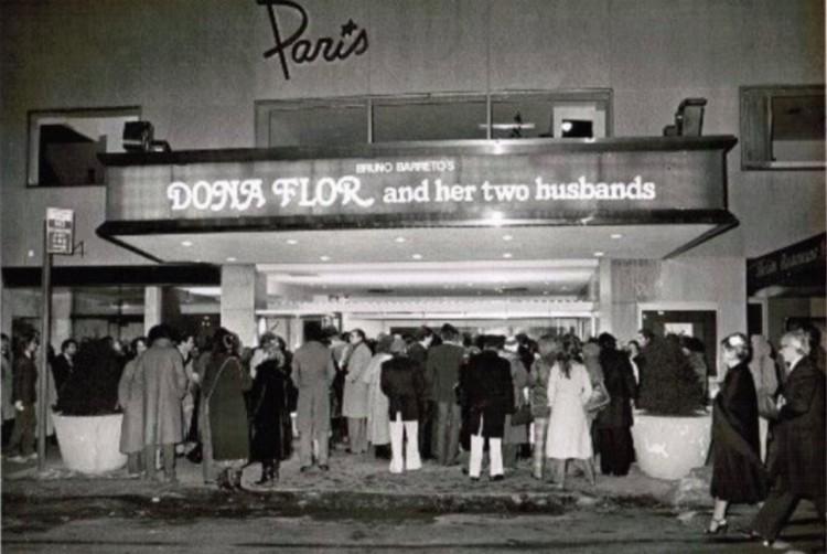 """""""Dona Flor e Seus Dois Maridos"""", de Bruno Barreto, no Paris Theatre, em 1978. (Foto: Reprodução)"""