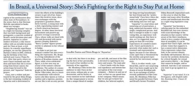 """Crítica de hoje (14) no jornal """"The New York Times"""" (Foto: Reprodução)"""