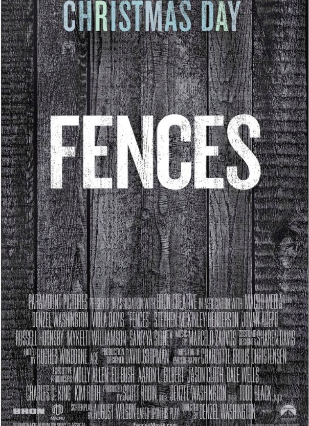 """Anúncio do filme """"Fences"""" no jornal New York Times de domingo. Filme estreia nos EUA no dia de Natal. (Foto: Reprodução)"""