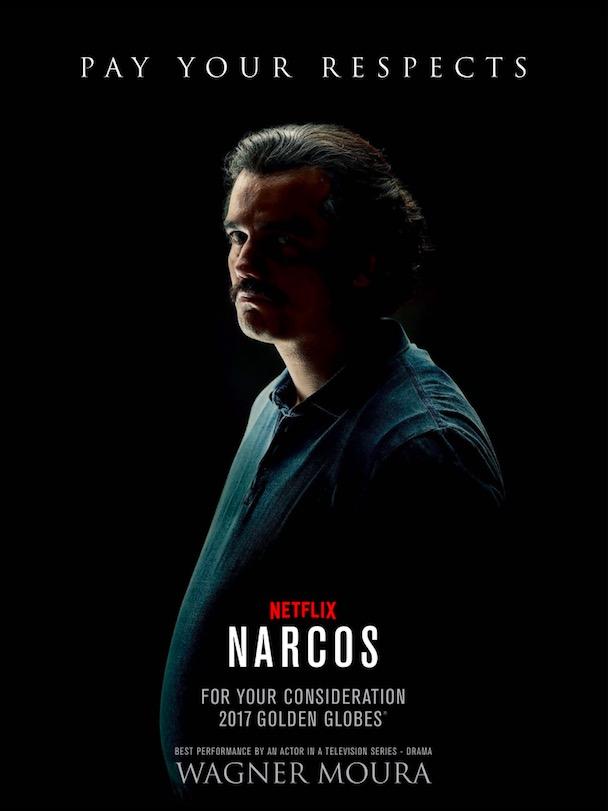 Anúncio do Netflix pedindo o voto para Wagner Moura. (Foto: Reprodução)