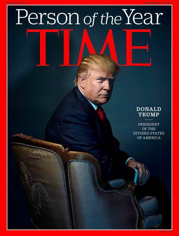"""Donalda Trump, fotografado pelo inglês Nadav Kander, na capa da revista """"Time"""". (Foto: Reprodução)"""