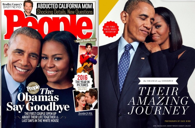 "O casal Barack Obama e Michelle Obama em entrevista ""saideira"" para a revista ""People"". (Foto: Cass Bird/People)"