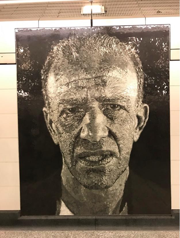 O pintor Alex Katz por Chuck Close. (Foto: Marcelo Bernardes)